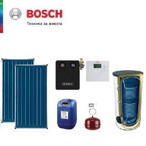 Пакет с плосък вертикален колектор Bosch Solar 5000 TF