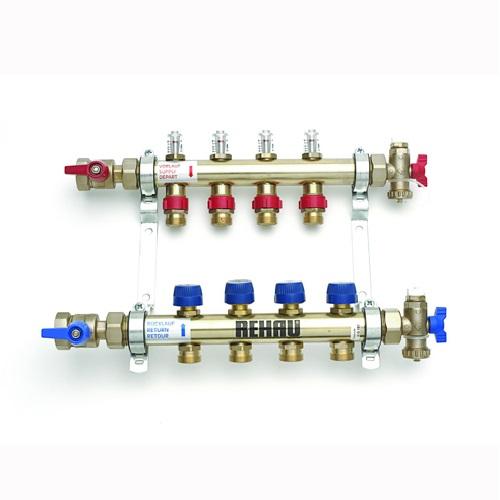 Колектор за подово отопление 4 кръга REHAU