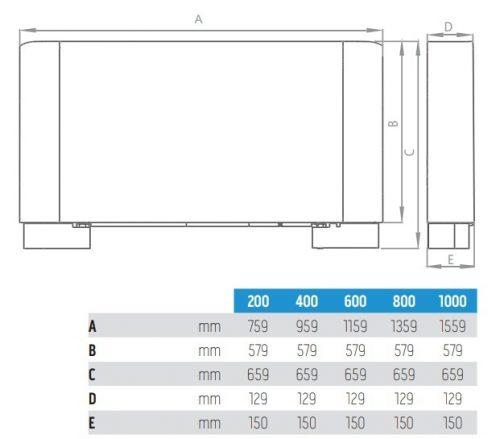 Вентилаторен конвектор Olimpia Splendid Bi2 SLR Smart inverter 200