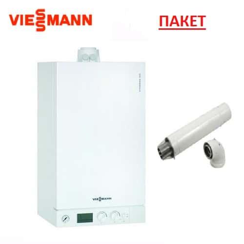 Пакет с газов двуконтурен кондензен котел VIESSMANN VITODENS 100-W - B1KC177 - 26kW