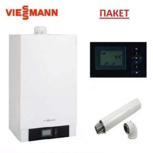 Пакет със стенен газов кондензен котел VIESSMANN VITODENS 200-W-B2HAK24-49KW
