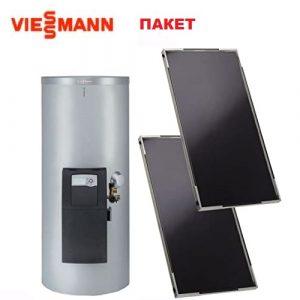 Пакет плоски колектори-2бр. Vitosol 200-FM и двусерпентинен бойлер за БГВ Vitocell 100-B