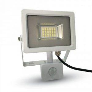 20W LED Прожектор Сензор SMD Бяло Тяло Бяла Светлина