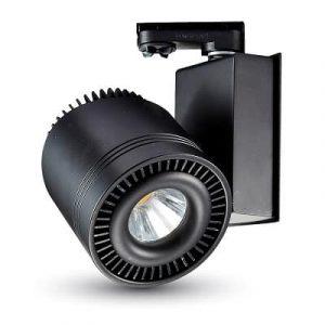 33W LED COB CRI>95 Прожектор за релсов монтаж черно тяло