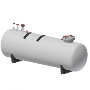 Резервоар за пропан-бутан за хоризонтален, подземен монтаж – 1300 л.