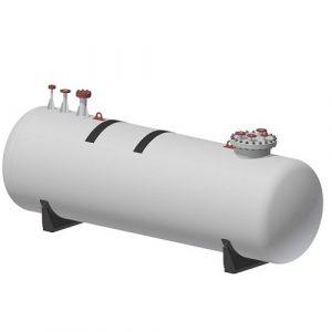 Резервоар за пропан-бутан за хоризонтален, подземен монтаж – 2700 л.
