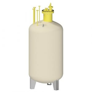 Резервоар за пропан-бутан за вертикален, надземен монтаж – 990 л.
